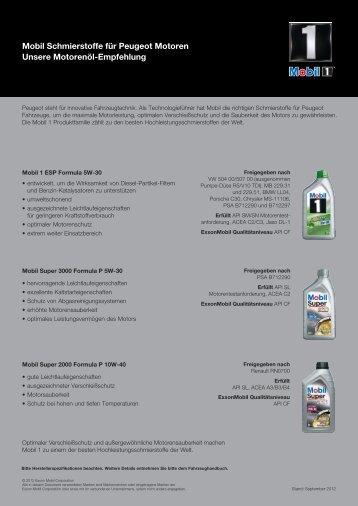 Peugeot Sellsheet