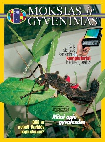 Mitai apie gyvalazdes - Vilniaus universitetas