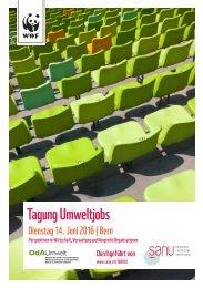 Tagung Umweltjobs, Dienstag 14. Juni 2016 in Bern