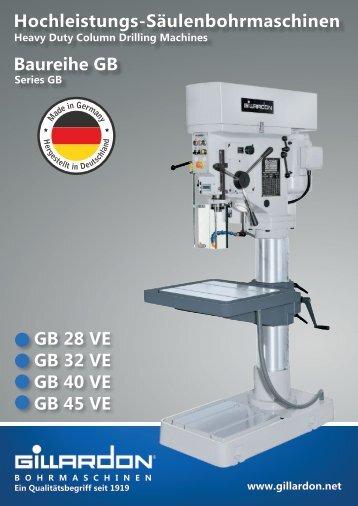 Hochleistungs-Säulenbohrmaschinen Baureihe GB
