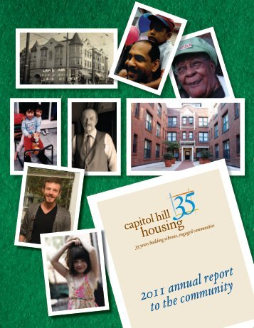 2011 annual report to the community - Capitol Hill Housing
