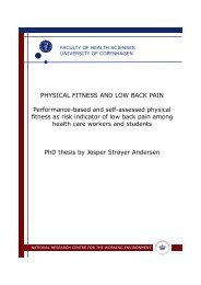 Physical fitness and low back pain
