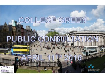College Green traffic management changes