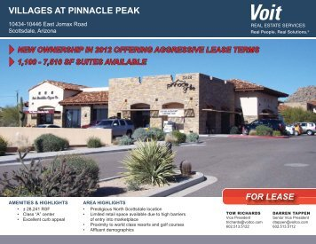 villages at pinnacle peak - Voit Real Estate Services