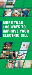 IMPROVE YOUR ELECTRIC BILL