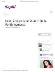 Best Female Escorts Girl In Delhi For Enjoyments - sophi