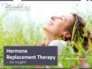 An Insight on Hormone Replacement Therapy