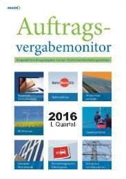 Auftragsvergabemonitor 2016 I. Quartal