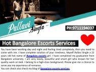 Hot Bangalore Escorts Services by Pallavi Singla