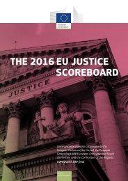 THE 2016 EU JUSTICE SCOREBOARD