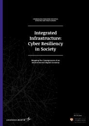 Integrated Infrastructure Cyber Resiliency in Society
