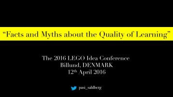 """Facts and Myths about the Quality of Learning"""