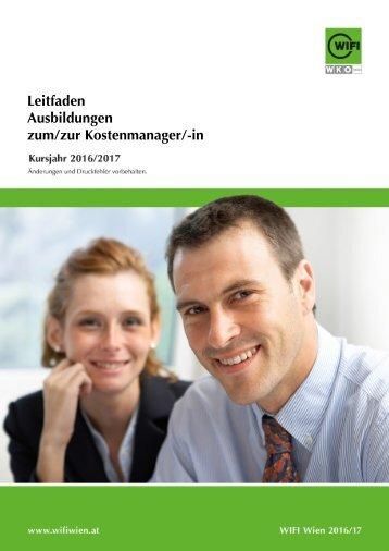 Leitfaden: Ausbildungen zum/zur Kostenmanager/-in