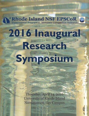 2016 Inaugural Research Symposium