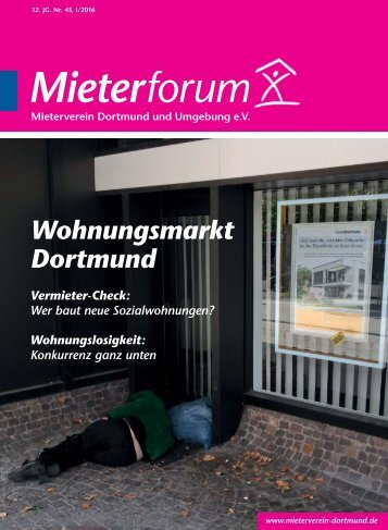 Mieterforum Dortmund - Ausgabe I/2016 (Nr. 43)