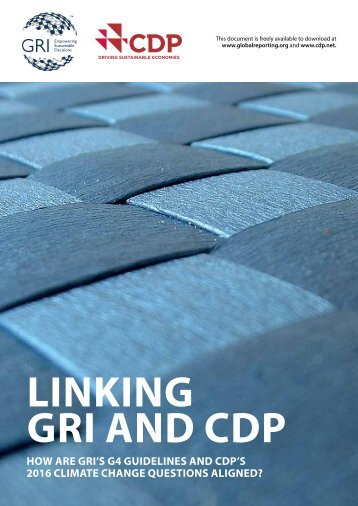 LINKING GRI AND CDP