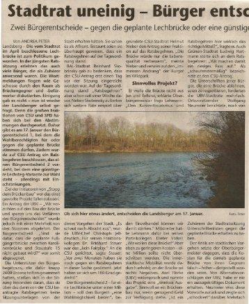 Stadtrat uneinig - Bürger entsc