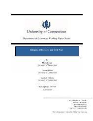 Department of Economics Working Paper Series