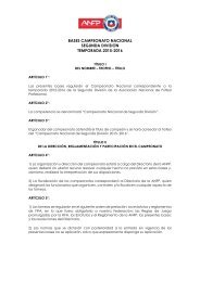 BASES CAMPEONATO NACIONAL SEGUNDA DIVISIOŃ TEMPORADA 2015-2016