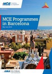 MCE Programmes in Barcelona