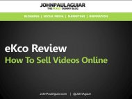 A Real eKco Review, Learn How To Sell Video Online