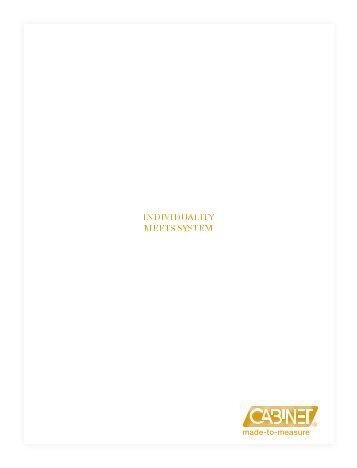 CABINET Schranksysteme AG - catalogue 2015/2016