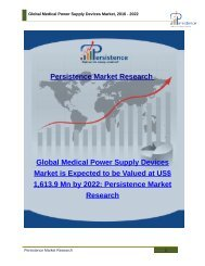 Global Medical Power Supply Devices Market, 2016 - 2022