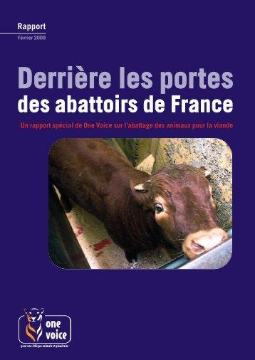 Derrière les portes des abattoirs de France