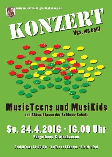MusicTeens Konzert 24.03.2016
