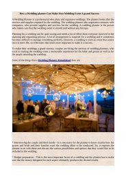 How a Wedding planner Can Make Your Wedding Event A grand Success