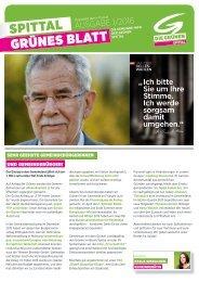 Gruenes Blatt Spittal Ausgabe 1/2016