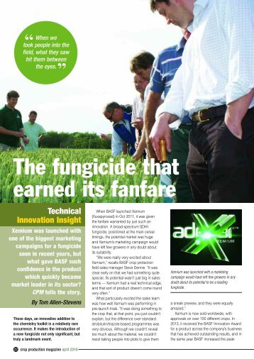 The fungicide that earned its fanfare