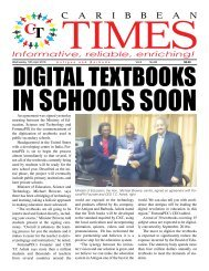 Caribbean Times 88th issue - Wednesday 13th April 2016