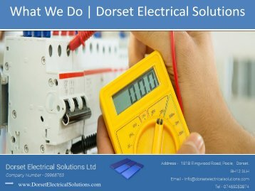 What We Do - Dorset Electrical Solutions