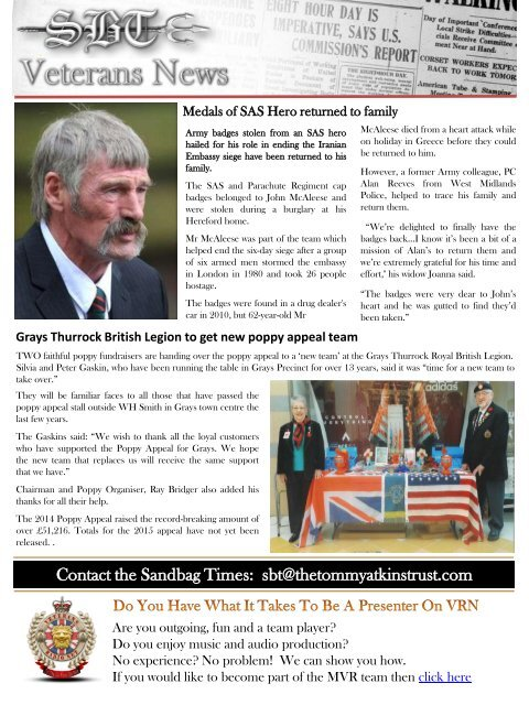The Sandbag Times Issue No:13