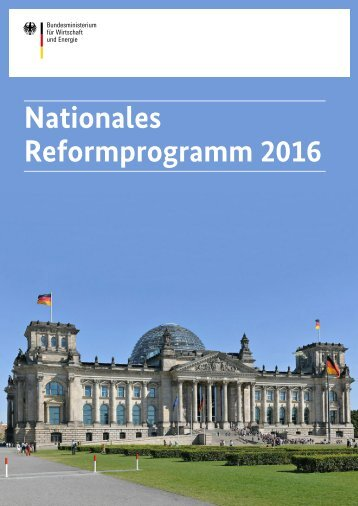 Nationales Reformprogramm 2016