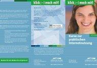 Kurse zur praktischen Internetnutzung - Interaktive Objekte