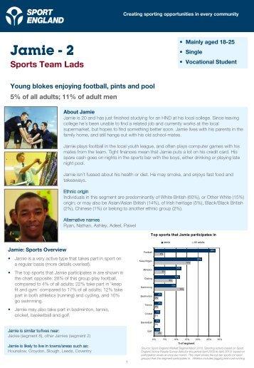 Jamie - 2 Sports Team Lads - Market Segmentation - Sport England