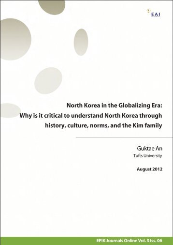history, culture, norms, and the Kim family Why is it critical to ...