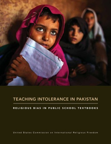 TEACHING INTOLERANCE IN PAKISTAN