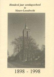 Zondagsschool Nieuw-Loosdrecht 1898-1998