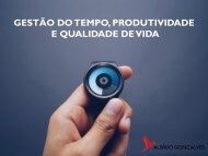 GESTÃO DO TEMPO PRODUTIVIDADE E QUALIDADE DE VIDA