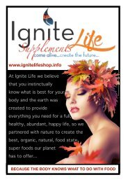 Ignite Life South African Nutritional Product Catalogue