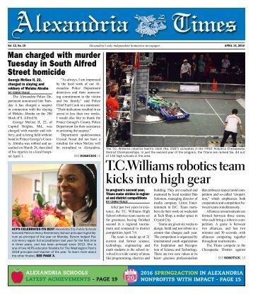 T.C Williams robotics team kicks into high gear