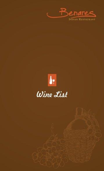 Wine, Beer and Cocktails - Benares