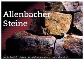 Allenbacher STeine - Juchem-Gruppe