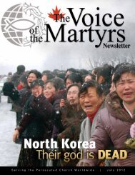 July 2012 - Voice of the Martyrs