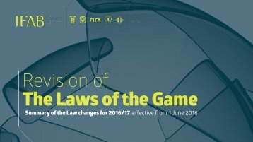 Revision of The Laws of the Game