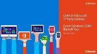 Zyme Solution CDM at Microsoft System