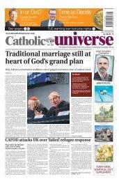 The Catholic Universe 15th April 2016